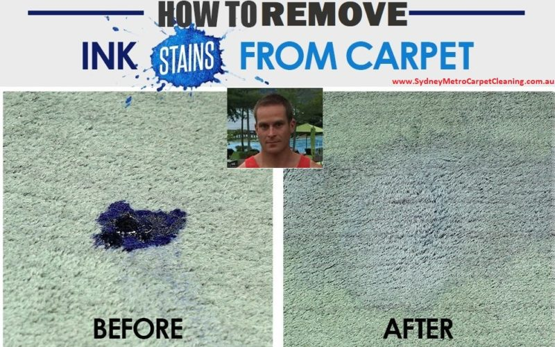 How to Remove Ink Stain from the Carpet?